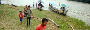 Zurück nach Misahuallí im Kanu. Es war schwierig einen einigermassen nüchteren Kanufahrer zu finden