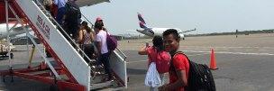 Rückflug über Bogota nach Quito